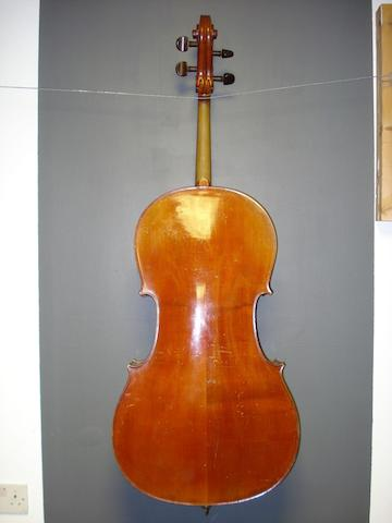 A Mirecourt Cello by JTL,circa 1900 (4)