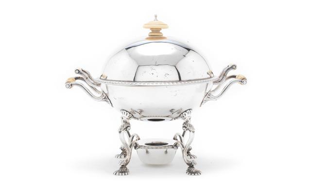 A silver serving dish  by Goldsmiths & Silversmiths Co Ltd, London 1906