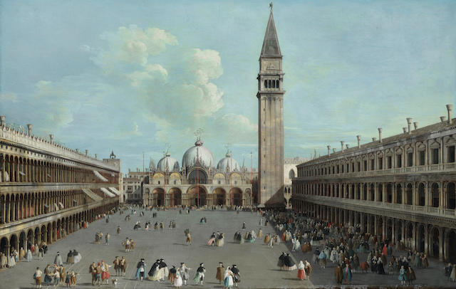 Giovanni Battista Cimaroli (Salò 1687- after 1753 Venice) The Piazza San Marco, Venice