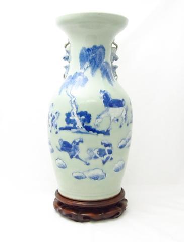 A celadon ground vase 19th century