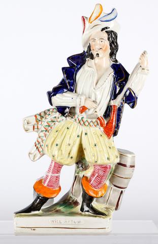 A Staffordshire flatback figure
