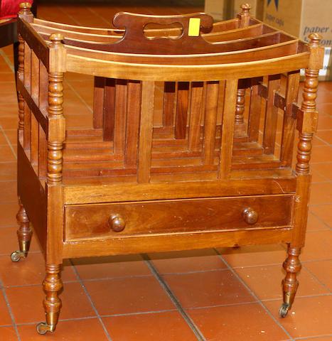 A George IV style mahogany Canterbury