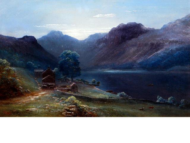Thomas Finchett (British 19th Century) 'Llyn Geirionydd Taliesin near Llanrwst North Wales'