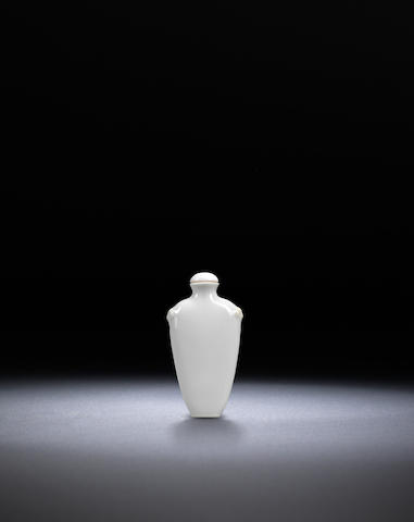 A white-glazed porcelain 'pushou' snuff bottle Late Qing dynasty