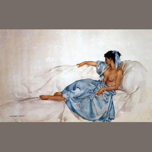 Sir William Russell Flint R.A., P.R.W.S. (British, 1880-1969) 'Cecilia and her Studies'