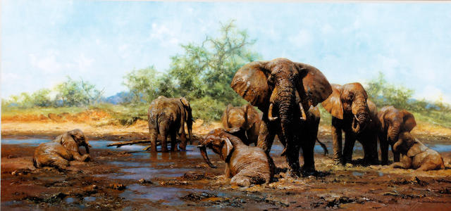 David Shepherd, O.B.E. (British, born 1931) 'Elephant Heaven'