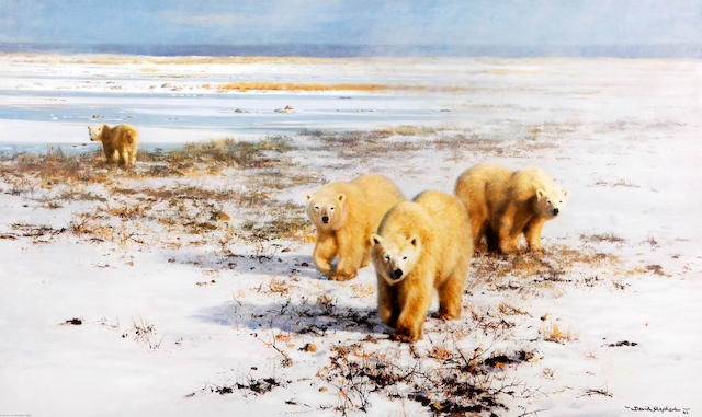 David Shepherd, O.B.E. (British, born 1931) 'Lone Wanderers of the Arctic'