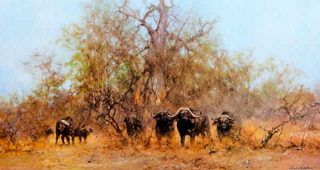 David Shepherd, O.B.E. (British, born 1931) 'Rhino Beware'