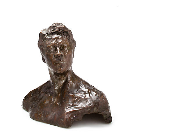 Prince Paolo Troubetzkoy (Russian, 1866-1938) Portrait bust of Fedor Chaliapin