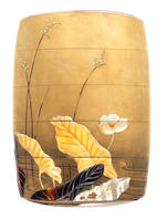 A fine gold lacquer four-case inro By Kakosai Shozan, late 19th century
