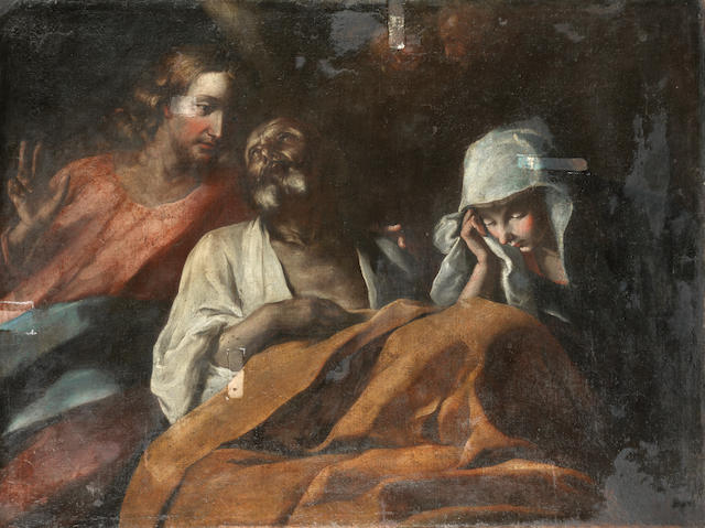 Italian School, 17th Century Christ healing the Sick unframed