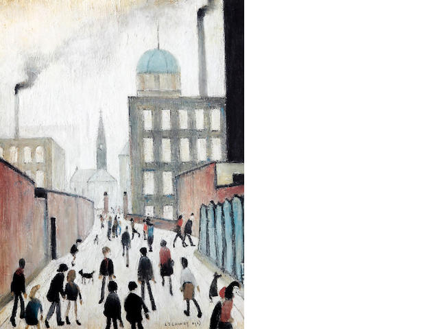 Laurence Stephen Lowry R.A. (British, 1887-1976) 'Mrs Swindells Picture'