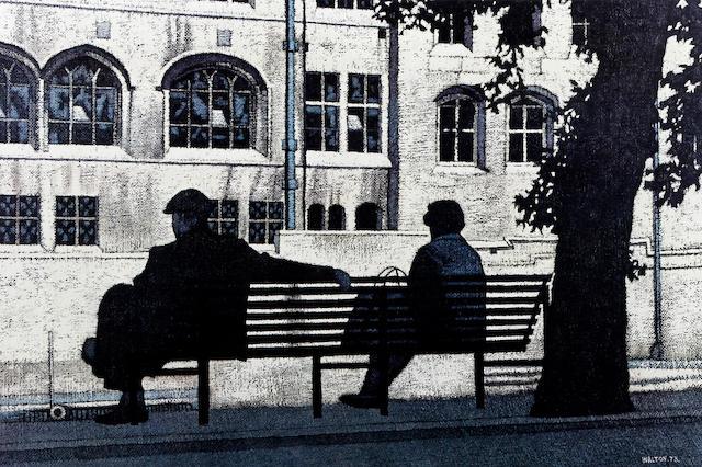 Stuart Walton (British, born Leeds 1934) Sitting by the River, York ('73)