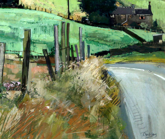 Trevor Stubley (British, 1932-2010) 'Bend in Chain Road, Slaithwaite Road'