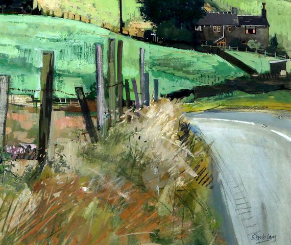 Trevor Stubley (British, 1932-2010) 'Bend in Chain Road, Slaithwaite Road'