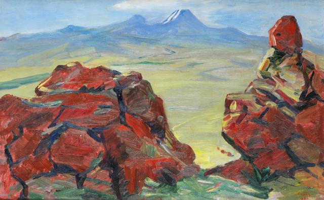 Martiros Sergeevich Saryan (Armenian, 1880-1972) Red rocks