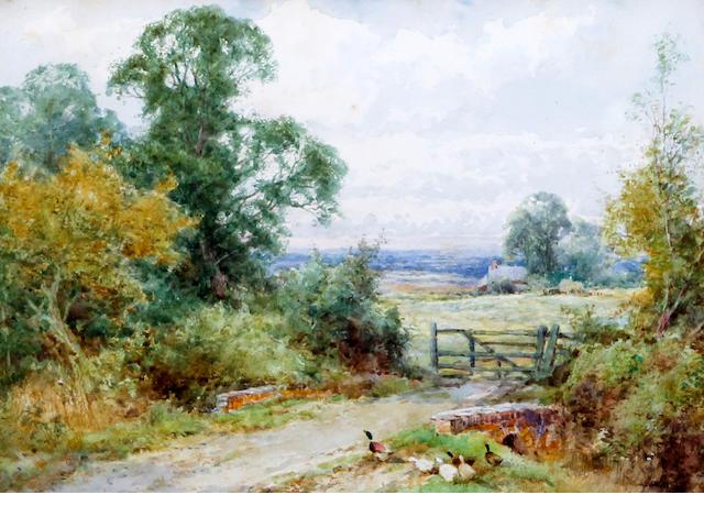 Henry John Sylvester Stannard, RBA (British, 1870-1951) 'Surrey Pasture'