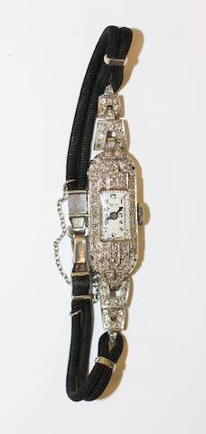 A diamond set cocktail watch,