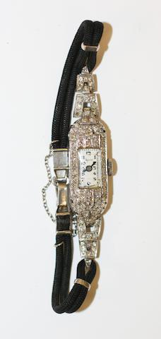 A diamond set cocktail watch,