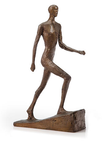 Dame Elisabeth Frink R.A. (British, 1930-1993) Running Man I 36.2 cm. (14 1/4 in.) high
