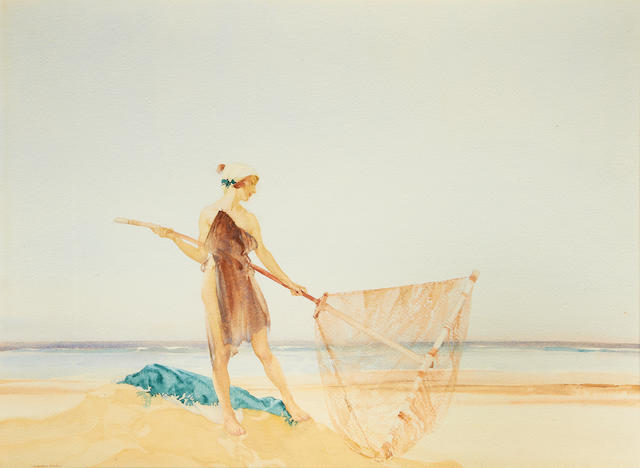 William Russell Flint (Scottish, 1880-1969) The Shrimper