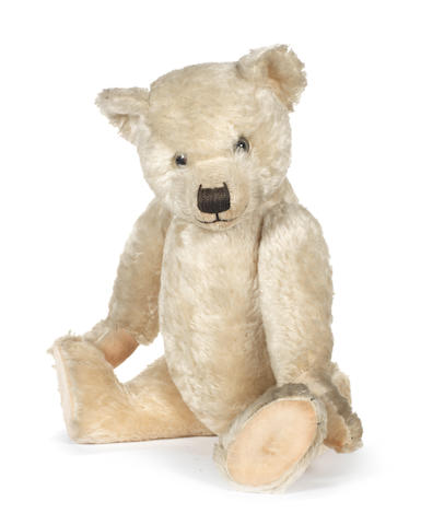 Large white mohair Chiltern Hugmee Teddy bear, 1930's