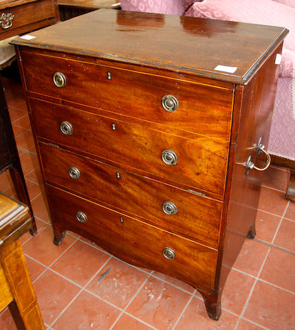 A Regency mahogany commode