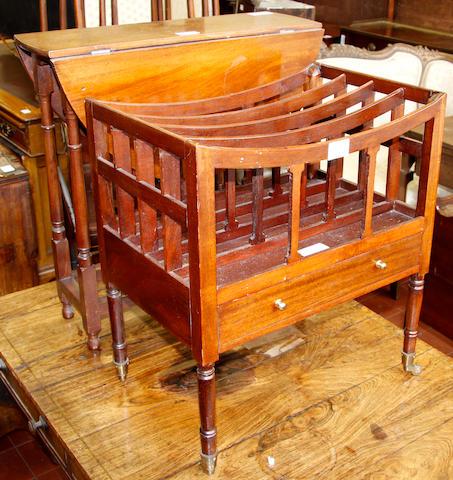 A Georgian style mahogany Canterbury