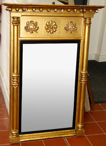 A Regency gilt and gesso pier glass