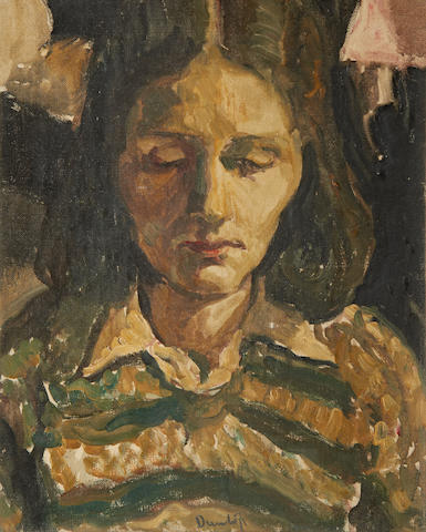 Ronald Ossory Dunlop, NEA, ARA, RBA (British, 1894-1973) Portrait of a woman looking down