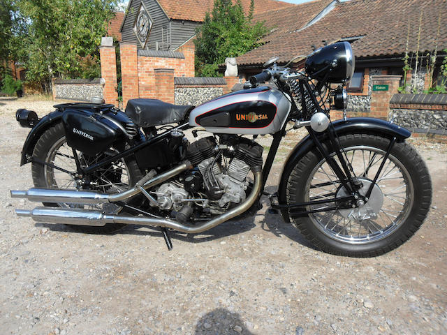 1943 Universal 850cc Twin  Frame no. 156301/43 Engine no. 42012