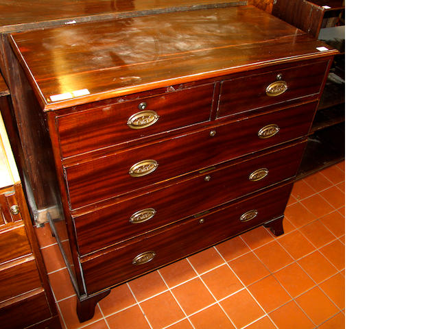 A late George III mahogany chest of drawers