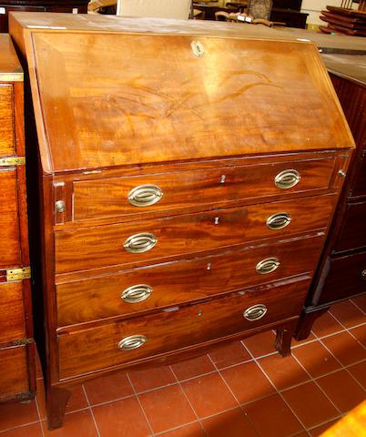A Regency mahogany bureau