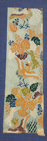 A brocade, robe fragment and kesa Japan, Edo Period or later(3)