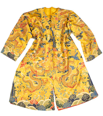A group of brocade textiles and costume Qing Dynasty 18th or 19th century(4)