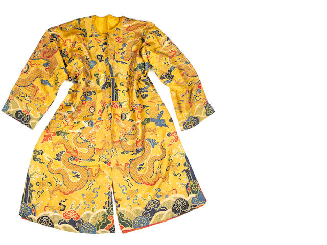 A group of brocade textiles and costume  China, 18th/19th Century(4)
