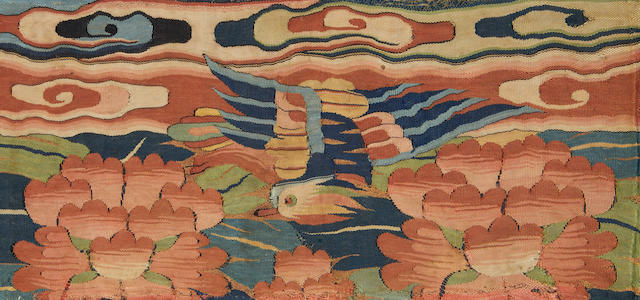 A group of textiles, including a thanka China, 16th-18th Century(5)