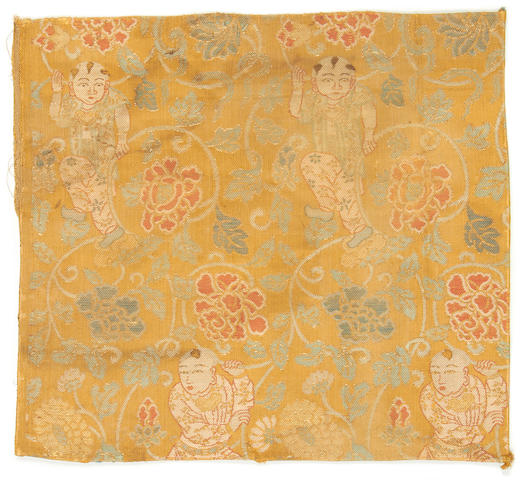 A group of textiles, including jacket fragments, shawl China, 15th-19th Century(6)