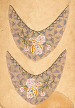 A group of Mughal carpet fragments India, 17th century(5)