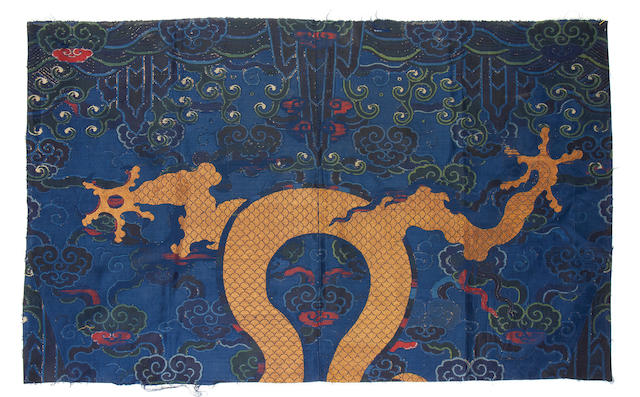 A group of textiles including a Yuan dynasty silk  China, 13th-17th Century(4)
