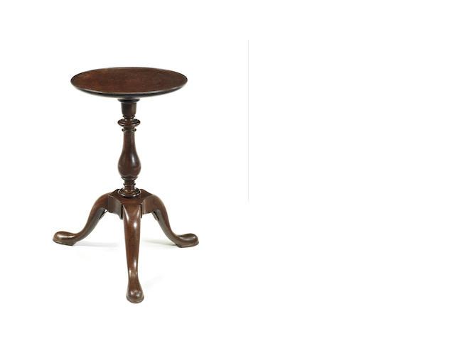 A George II mahogany tripod kettle stand