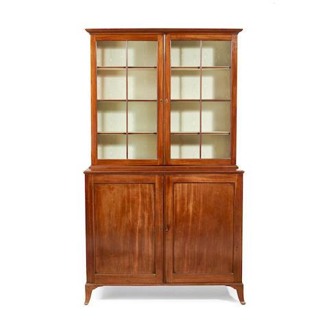 A late George III mahogany bookcase
