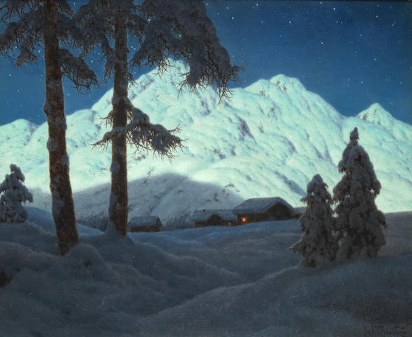 Ivan Fedorovich Choultsé  (Russian, 1877-1932) 'Effet de lune'