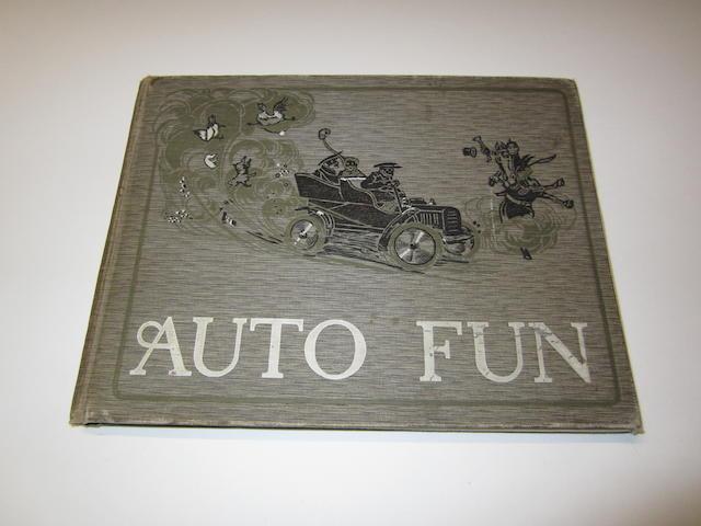 'Auto Fun', a humorous motoring book, American, 1900s,