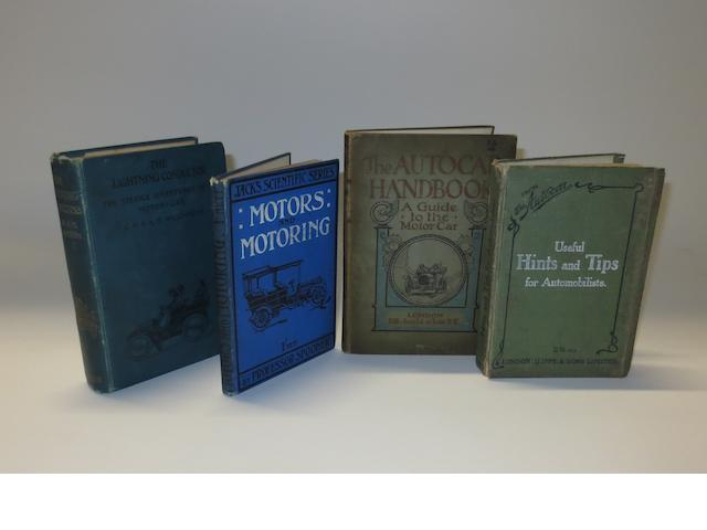 Four early motoring books,