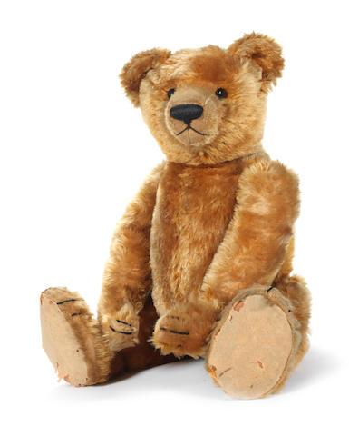 Rare cinnamon mohair Bing Teddy bear, circa 1909