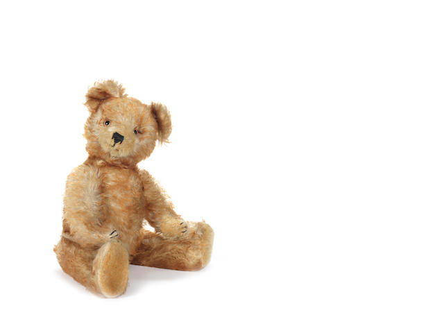 Tipped mohair Teddy bear, probably Rudolf Haas, circa 1930