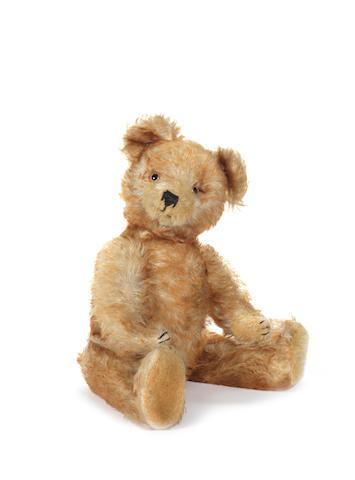 Tipped mohair Teddy bear, probably Rudolf Haas, circa 1930