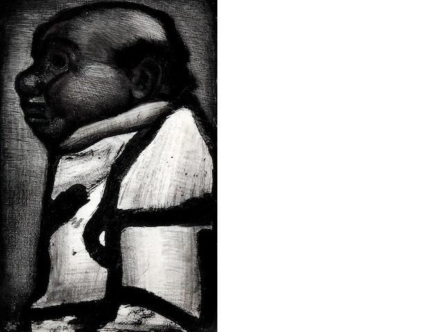 Georges Rouault (French, 1871-1958) 'Bon Electeur. The Good Elector' from 'Les Reincartions du Pere Ubu'