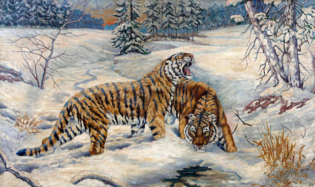 J. C. Wardle, (20th Century) Siberian Tigers